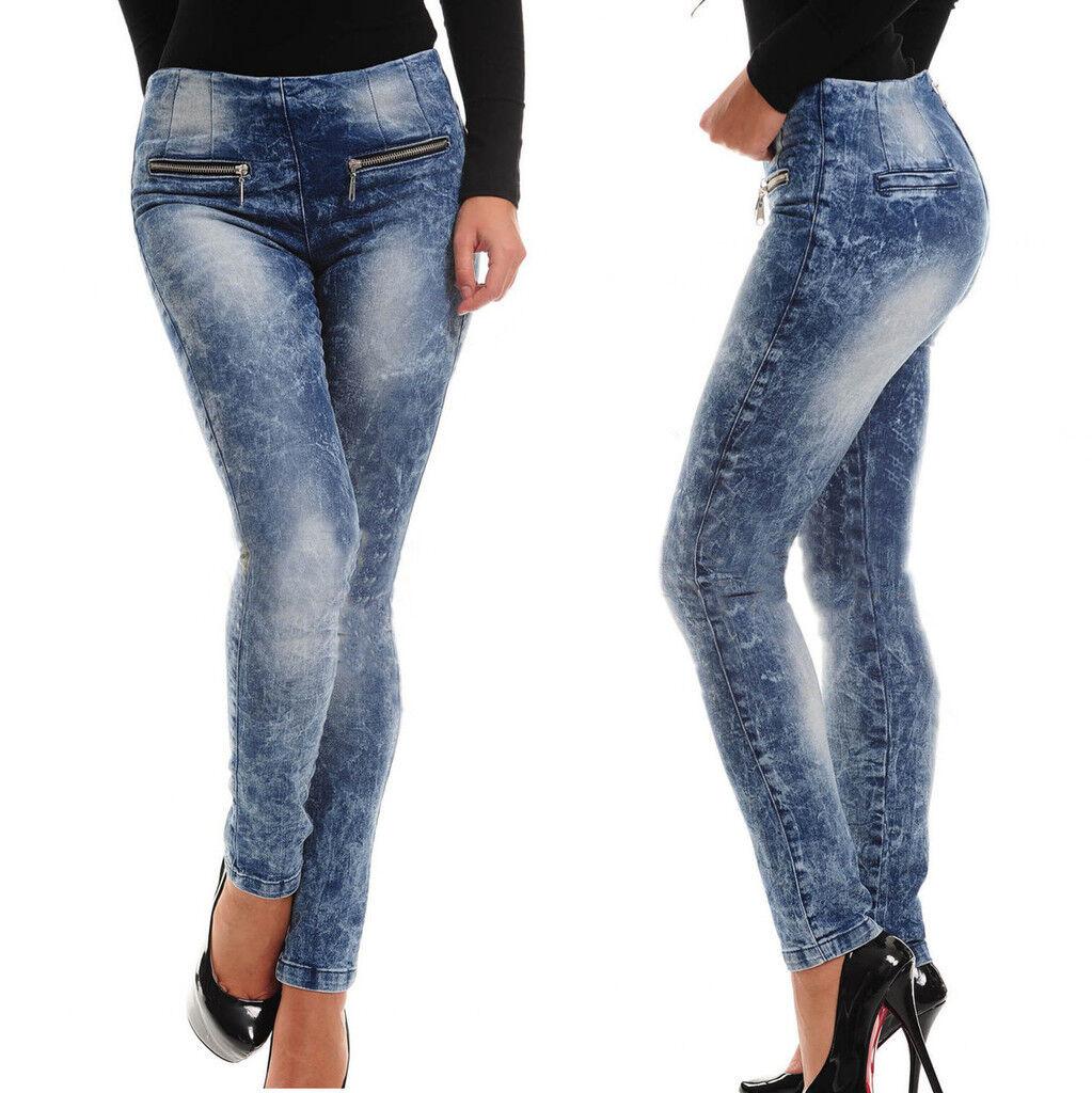 BY ALINA Damenjeans Jeans Hose Damenhose Sexy Röhrenjeans Hüftjeans 34 - 38  638