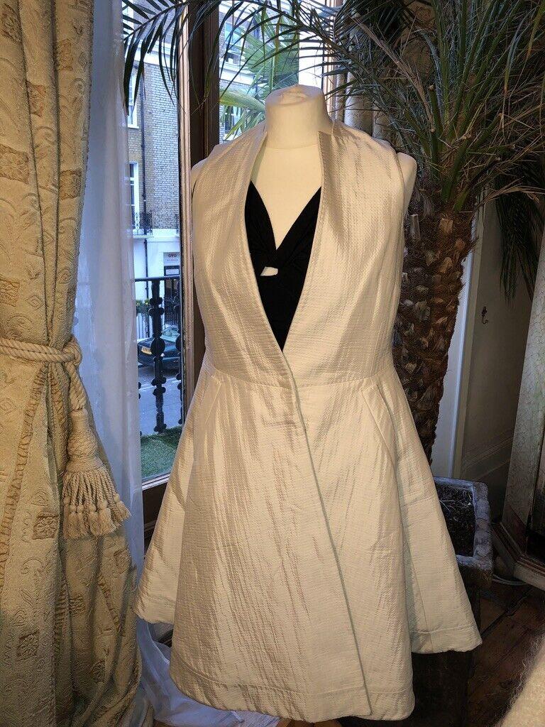Antonio Berardi Long Vest   Sleeveless Full Skirted Dress