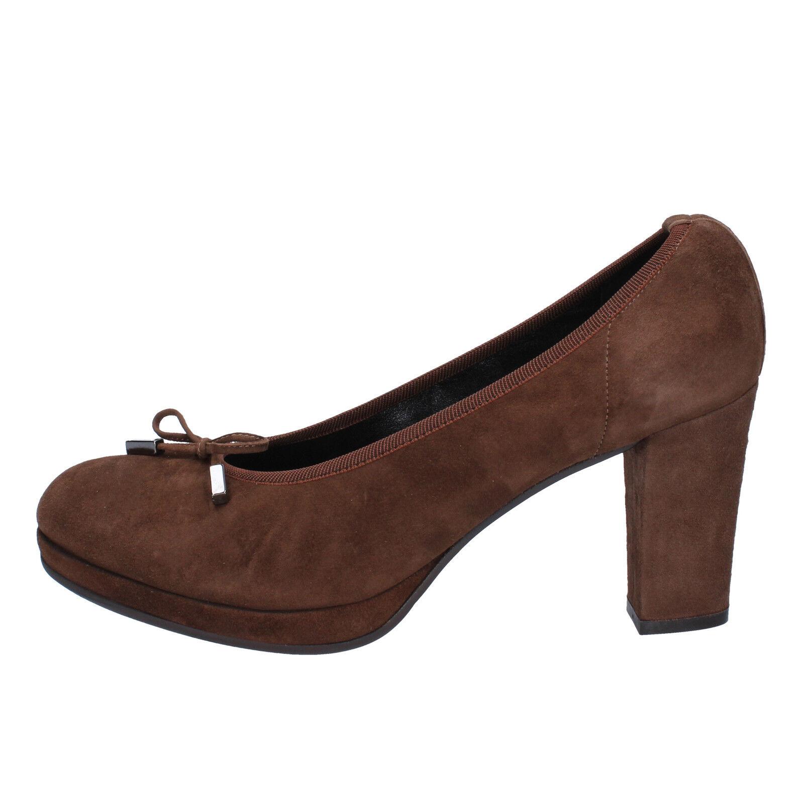 Wohombres zapatos CALPIERRE 7 (EU 40) Courts marrón Suede AD584