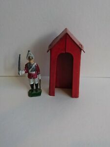 Vintage led Soldier With a tin hut