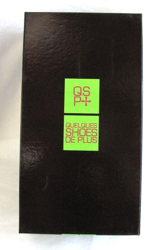 QUELQUES QUELQUES QUELQUES zapatos DE PLUS - MULES TALONS 9 CM TOUT CUIR negro GLACé 36 NEUF & BOITE c4022d