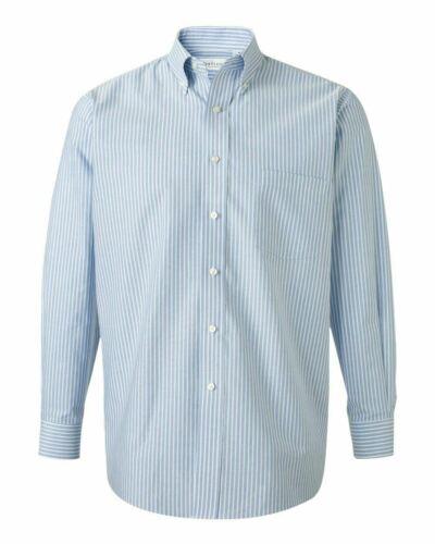 Van Heusen Mens Long Sleeve Blended Oxford Shirt 13V0040 Button Up Woven S-4XL