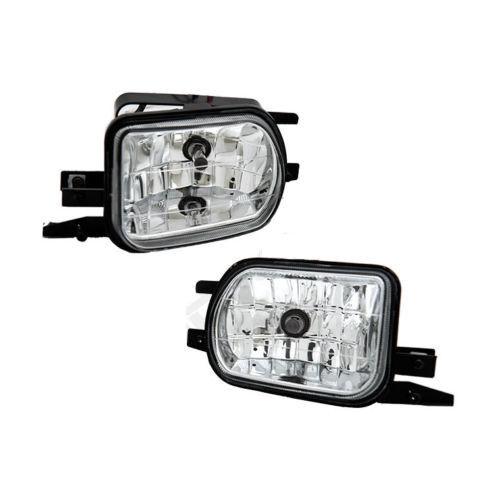 For 01-07 Mercedes Benz W203 C-Class Clear Bumper Fog Light Lamp W//Switch Bulbs