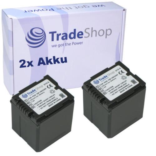 2x BATERIA para Panasonic hdc-sd100 hdc-sd100 hdc-sd200 chip