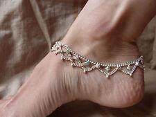 bracelet chaine de cheville indien ethnique Inde silver ankle India Rajasthan