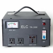 ELC TR-2000 2000 Watt Voltage Regulator Transformer - Step Up/Down - 110V/220V