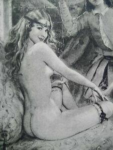 Rare curiosa paul-émile bécat engraving perfect condition scene galante drypoint