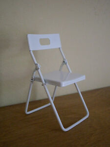 Dollshouse miniature  WHITE  Folding Chair - <span itemprop=availableAtOrFrom>HEREFORD, Herefordshire, United Kingdom</span> - If damaged in transit a full refund will be given Most purchases from business sellers are protected by the Consumer Contract Regulations 2013 which give you the right to  - HEREFORD, Herefordshire, United Kingdom