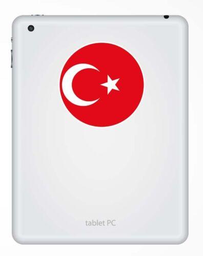 2 X 10 Cm Turquía bandera turca pegatina de vinilo calcomanía portátil de viaje en coche la etiqueta # 9128