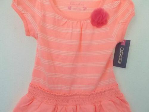 Cherokee Toddler Girls Layered Ruffle Dress Cotton Casual  Various Sizes NWT