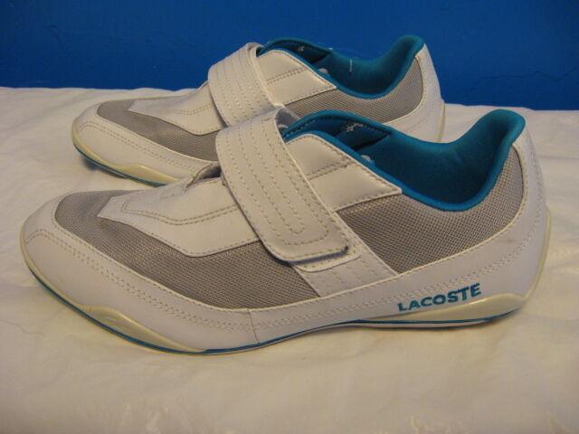 Lacoste SHOES WOMEN 8 Leather, Medium (B, M) White