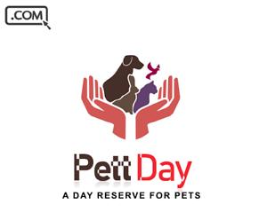 PettDay .com   - Brandable Domain Name sale - PET CARE DOMAIN NAME