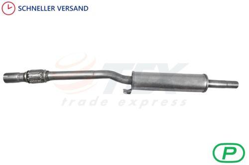 VW POLO 86C 1.0 1.3 1.3D 1.4D 86-94 Auspuffanlage Mittelschalldämpfer Auspuff