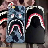 Cool Shark Camo Camouflage Bape Soft Case Cover Skin for iPhone 6 6s 6s Plus