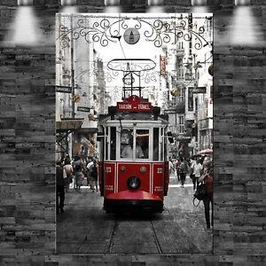 xxl istanbul tram auf leinwand keilrahmen t rkei stra enbahn ebay. Black Bedroom Furniture Sets. Home Design Ideas