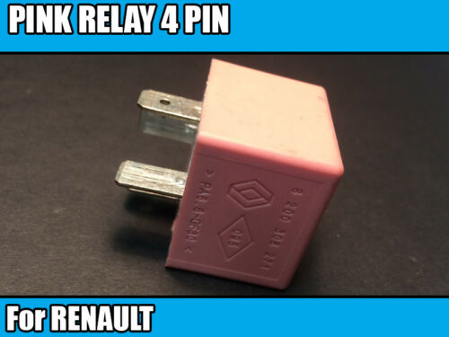 1x RENAULT TRAFIC PRIMASTAR VIVARO 4 Pin Rosa Relé 40 A 12 V 20240041 8200308271