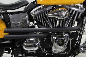 New-Radii-Black-Shotgun-Exhaust-System-Drag-Pipe-Set-Black-1991-2017-Harley-Dyna