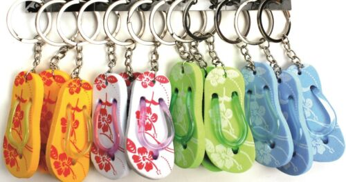 Flip Flop Key Chains Choice Of Colours Sandal Key Rings