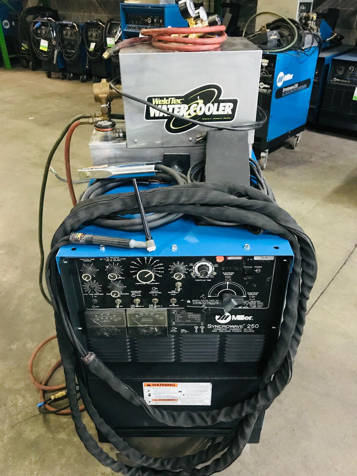 Miller Syncrowave 250 TIG Welder on Cart. Buy it now for 2995.00
