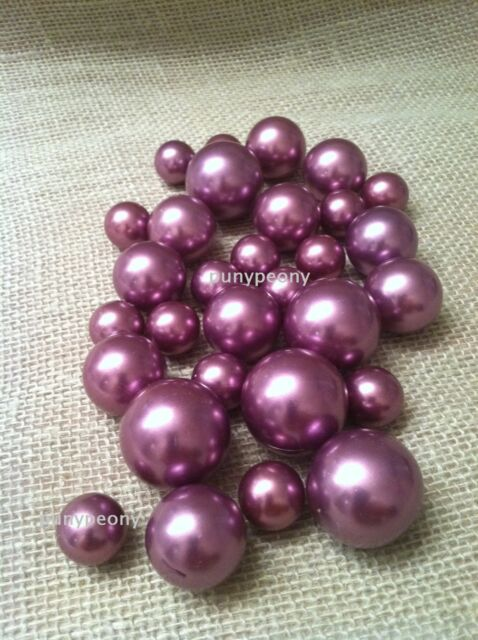 Purple Jumbo Pearls No holes (10mm, 14mm, 18mm, 24mm, 30mm) for vases/crafts