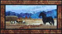 Unbridled Horse Stallion Toni Whitney Fusible Quilt Pattern + Fabric Kit