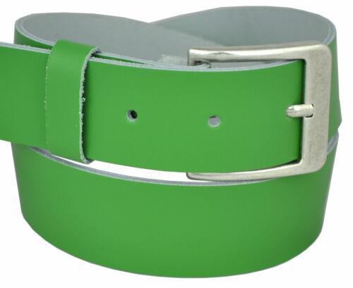 Vissé Femmes Hommes 4 cm 100/% CUIR VERITABLE ceinture cuir ceinture belt Hell Gruen