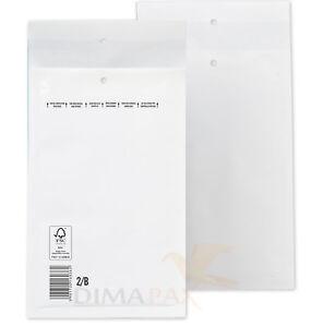 1000-Sacs-a-bulles-B-2-Coussin-d-039-air-sacs-enveloppes-Blanc