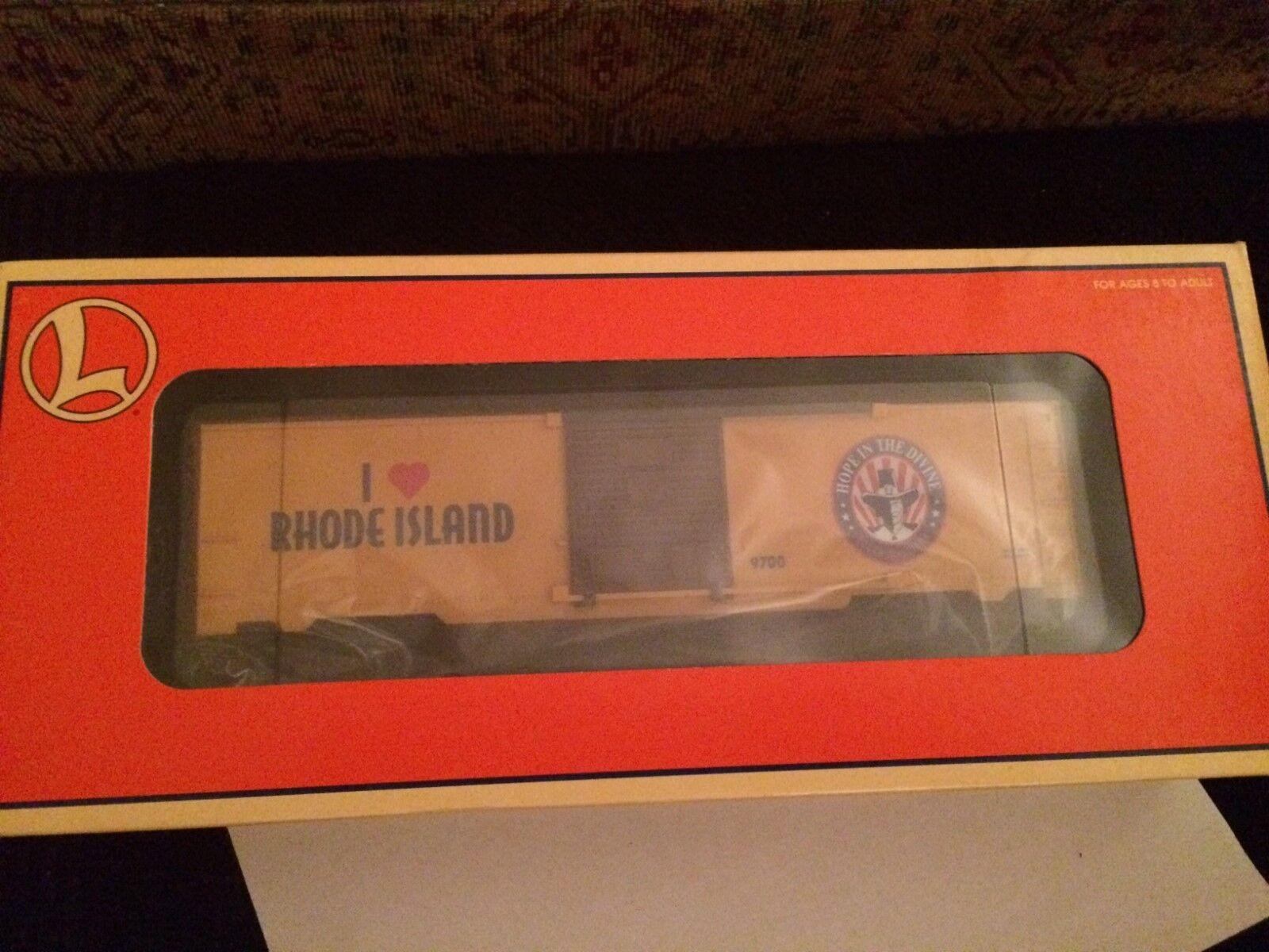 Lionel 19971 I Love Rhode Island Box Car Nuovo in Box