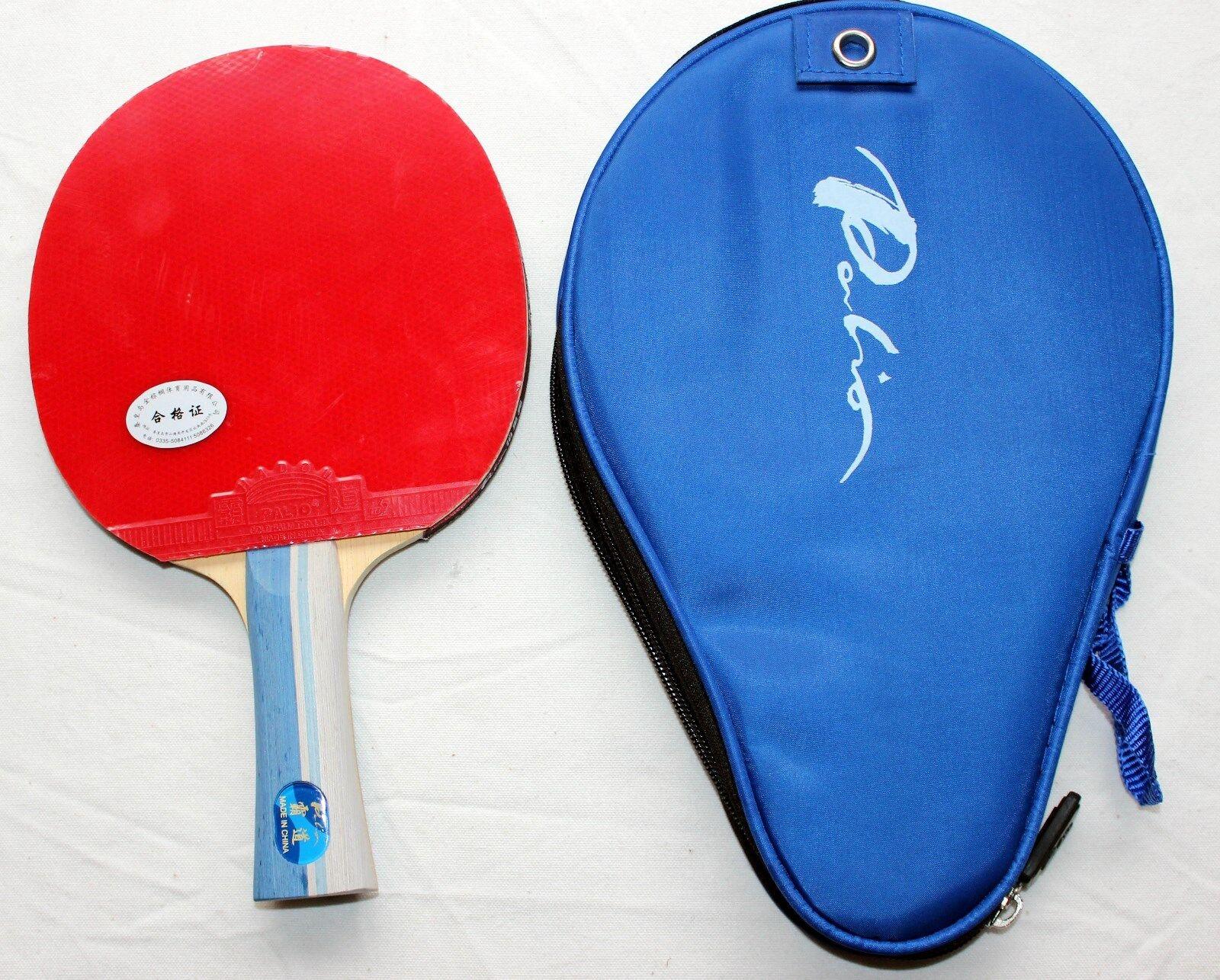 Palio Legend Table Tennis Bat w  Case, New, USD