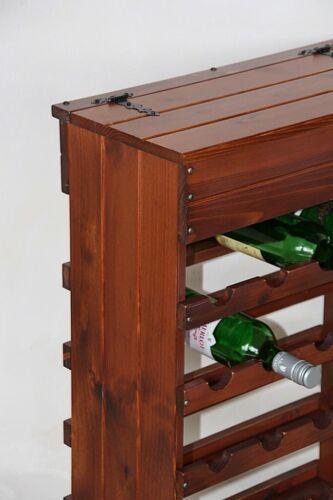 Massivholz Weinregal 30 Flaschen Ständer Regal Bar Wein schrank Haus bar kirsch