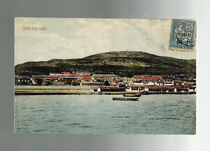 1900s French Post Office in China Postcard Cover Wei Hai Wei Coast and Harbor