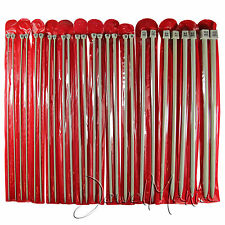 """Set of 26 Pcs Single Pointed Sewing Knitting Needles - 35cm (14"""") - 2mm to 10mm"""
