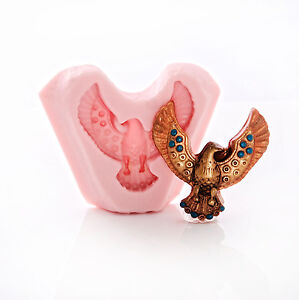 Polymer Clay. Eagle Silicone Mold  Flexible Silicone Mould for Crafts Scrapbooking Jewelry Resin