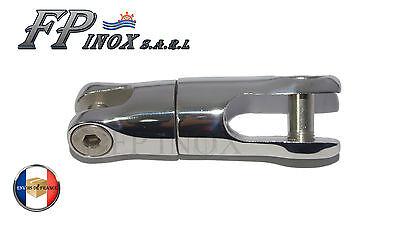 Connecteur Chaine Emerillon Pour Ancre 20kg 6/8mm Pivotant Inox 316 Brillante Y TranslúCido En Apariencia