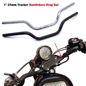 "1"" 25mm Black Chrome Tracker Handlebar Drag Bars For Honda Sportster Xl883 1200 Rendre Les Choses Pratiques Pour Les Clients"