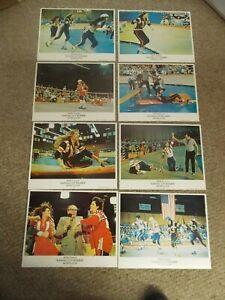 KANSAS CITY BOMBER(1972)RAQUEL WELCH ORIGINA LOBBY CARD SET OF 8 NEAR MINT!