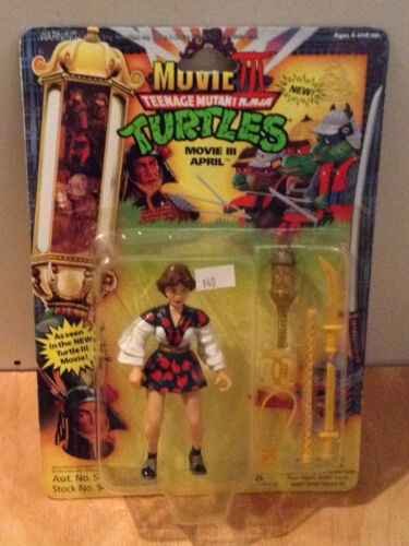 Teenage Mutant Ninja Turtles Movie III April Action Figure Playmates