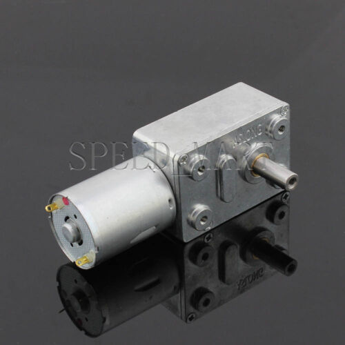 Reversible High torque Turbo worm Geared motor DC motor GW370 6V 15pm