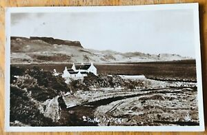 THE YOUTH HOSTEL, STAFFIN, ISLE OF SKYE, SCOTLAND : REAL PHOTO POSTCARD (1950s)