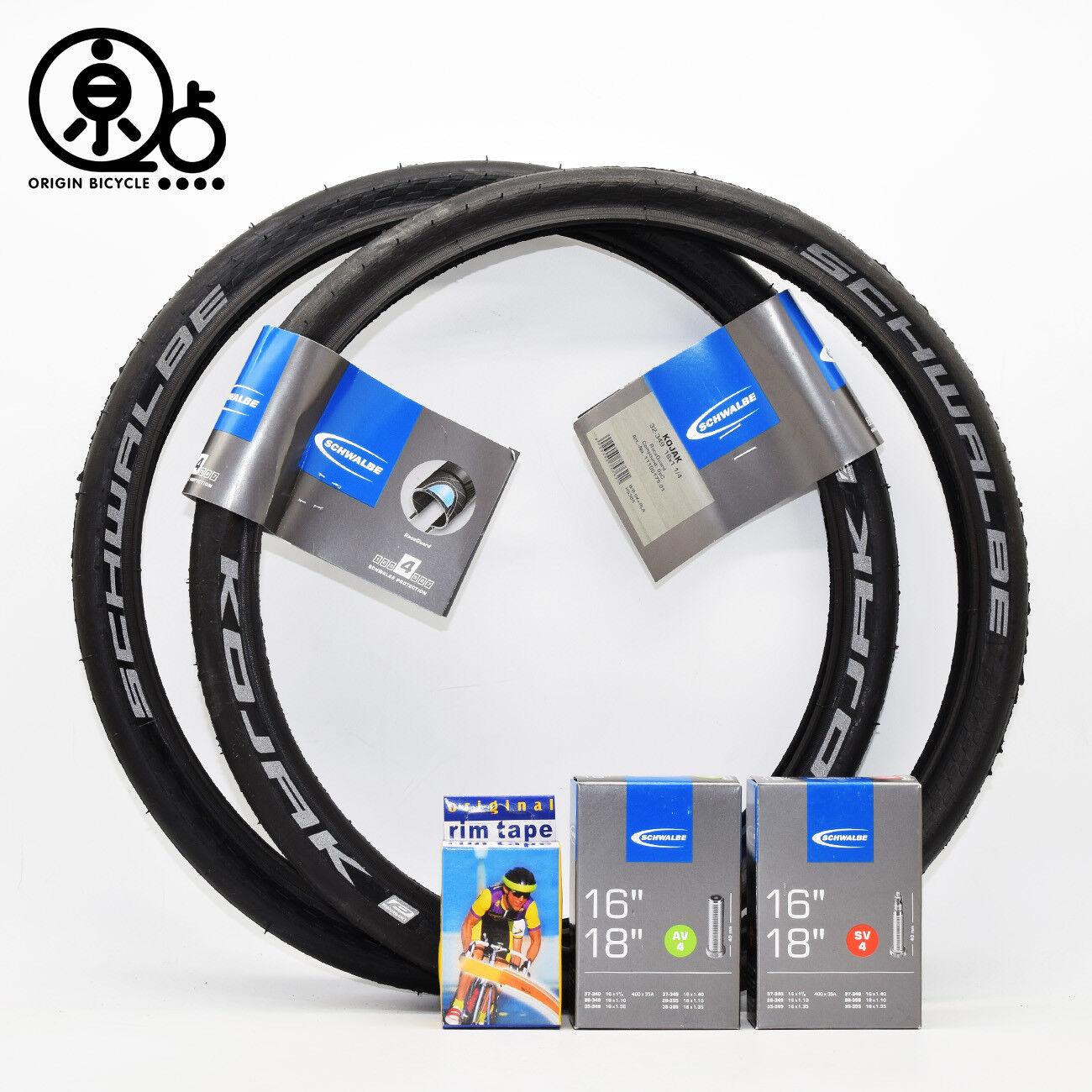 Schwalbe KOJAK 16x1 1 4  (32-349) HS385 Brompton Bike Tire Tyre Tube Rim Tap  70% off cheap