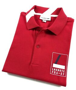 7fc166c3715e Lacoste Polo Shirt Men's Slim Fit Red Stretch Cotton Pique PH936200 ...