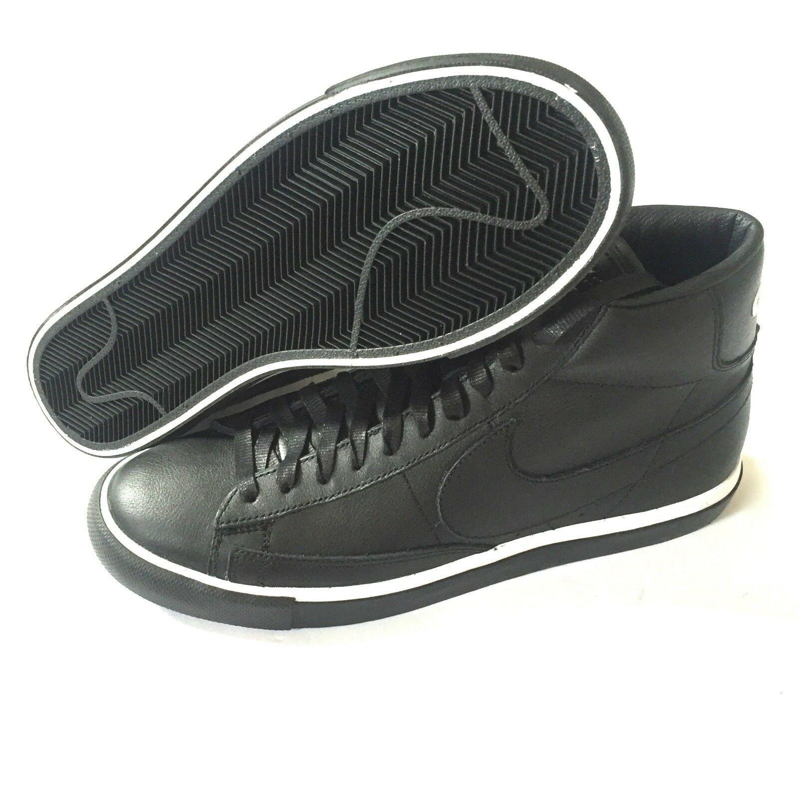 NWT Nike Nike NWT Comme des Garcons CDG Black Blazer High Leather Sneakers Shoe AUTHENTIC b7359b