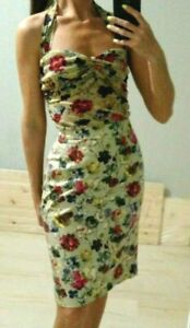 AUTH-D-amp-G-Dolce-amp-Gabbana-set-looks-as-dress-pansies-floral-top-44-amp-skirt-40