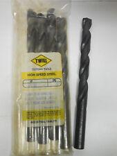 """HSCo Cobalt 135 Degree Split Point 5 new TWILL 9//32/"""" Jobber Length Twist Drills"""