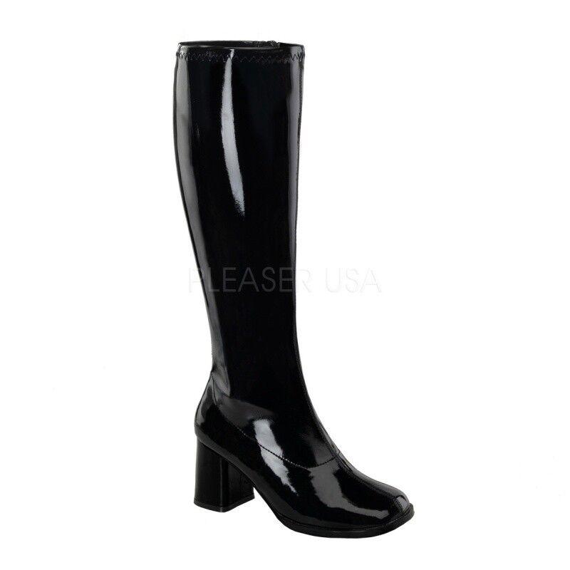Funtasma botas botas botas Gogo - 300wc negro barniz Stretch 7e0fe5