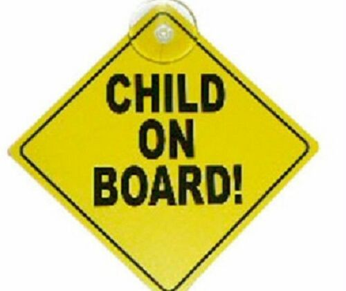 Child On Board Sign with Suction Cup Vehicle Safety Car Sign Baby