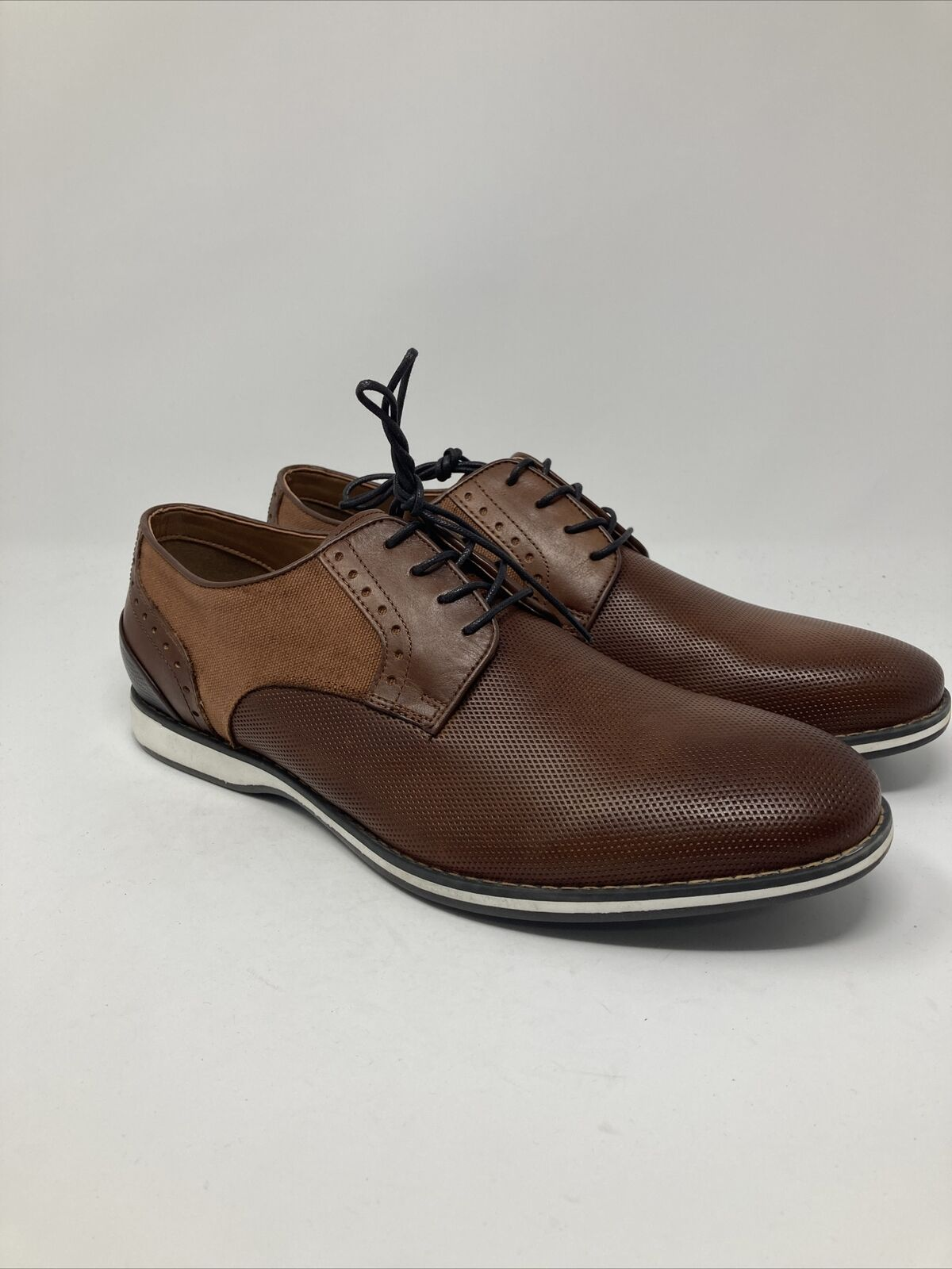 Kenneth Cole Reaction Men's Weiser Lace Up, 12 M US, Brown/Black