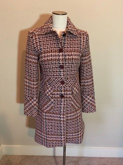 Gaspare Ferrara Women's Tweed Multicolor Coat Perfect Condition Size 4