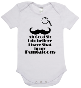 Baby romper suit one piece short sleeve Ah Good Sir I Do Believe I Have Shat My