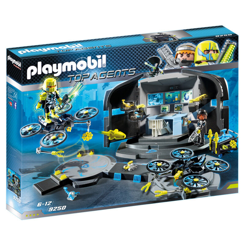 Playmobil Top Agents Dr. Drones Command Base 9250 NEW